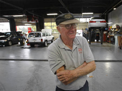Larry Weathers Jr. in the Weathers Motors repair shop, which has purchased new tools and is now repairing most makes of cars. (Michael S. Wirtz / Staff Photographer)