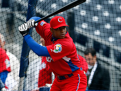 """We´re doing our due diligence,"" Phillies general manager Ruben Amaro said of Yoenis Cespedes. (KC Alfred/AP file photo)"