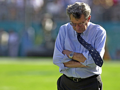 Joe Paterno is reportedly on his way out at Penn State. (AP Photo/Phelan Ebenhack, File)