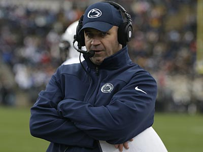 Penn State head coach Bill O´Brien watches during the first half of an NCAA college football game against Purdue Saturday, Nov. 3, 2012, in West Lafayette, Ind. (Darron Cummings/AP)