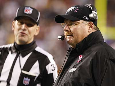 Andy Reid has successfully overturned just 32.6 percent of his challenges since 2000. ( Ron Cortes / Staff Photographer )