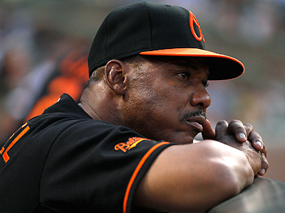 Former Phillie Juan Samuel served as in interim manager for the Orioles last season. (AP Photo/Rob Carr)