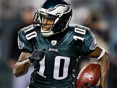 Eagles WR DeSean Jackson had two catches for 16 yards last week. (AP Photo / Matt Slocum)