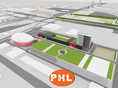 U.S. Rep. Bob Brady wants the City of Philadelphia to bid on a casino license.  Brady proposes to build the casino on the city-owned site of the former Food Distribution Center on Packer Avenue at the foot of the Walt Whitman Bridge in South Philly.