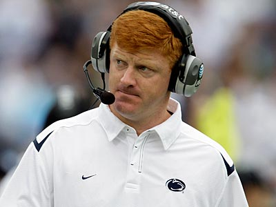 Penn State assistant coach Mike McQueary is on paid adminsitrative leave. (Carolyn Kaster/AP)