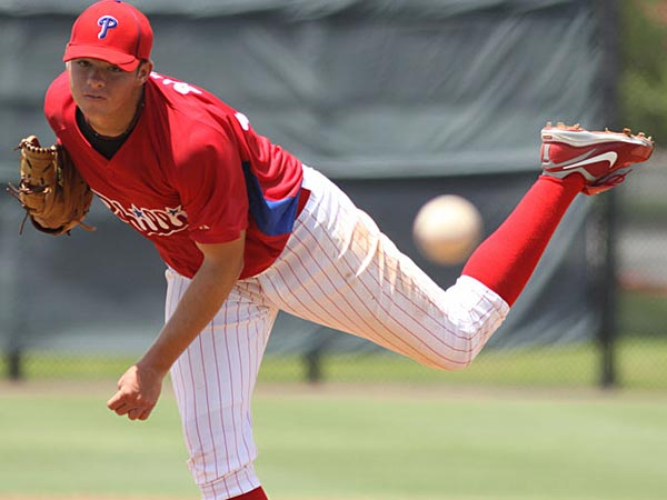 Jesse Biddle has been named to Baseball America´s list of the top 100 prospects. (Photo by Scott Purks)
