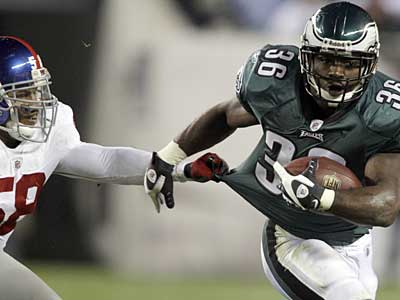 """We don´t always have it, no,"" said running back Brian Westbrook in response to whether the Eagles have a commitment to the run. (David Maialetti / Staff Photographer)"