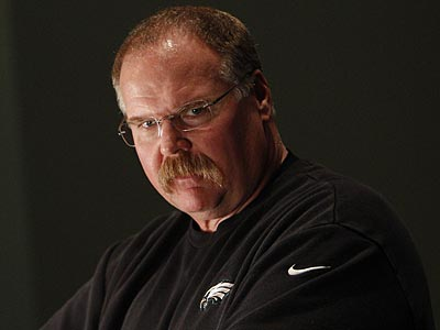 Eagles head coach Andy Reid speaks with reporters during the day after<br />the game press conference at the NovaCare Complex in Philadelphia on<br />November 12, 2012. (David Maialetti/Staff Photographer)