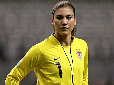 Hope Solo. (AP Photo/The Canadian Press, Jonathan Hayward, File)
