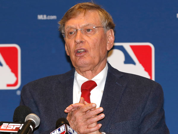 Major League Baseball Commissioner Bud Selig talks to the media following baseball´s general managers´ meetings Thursday, Nov. 14, 2013, in Orlando, Fla. (Reinhold Matay/AP)