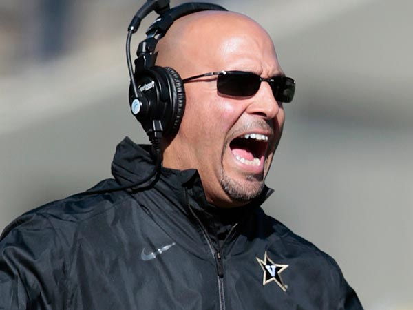 Former Vanderbilt coach James Franklin has been named as Bill O´Brien´s replacement. (AP Photo/Mark Humphrey)