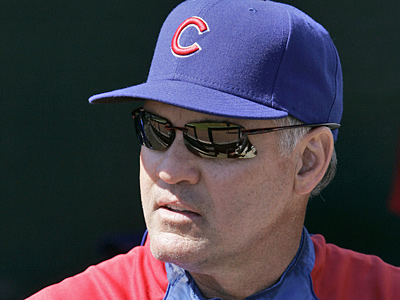Former Chicago Cubs second baseman Ryne Sandberg is the new manager of the Lehigh Valley IronPigs. (AP Photo/Jeff Chiu)
