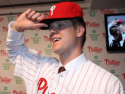 """""""I really admire the way they play,"""" Jonathan Papelbon said of the Phillies. (Steven M. Falk/Staff Photographer)"""