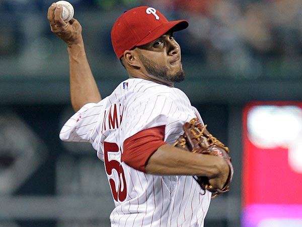 Cesar Jimenez, who pitched for the Phillies in 2013, has been invited to 2014 Spring Training. (AP Photo/Laurence Kesterson)