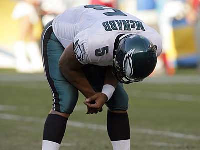 Can Donovan McNabb and the Eagles get back on track this weekend against the Bears? (Ron Cortes / Staff Photographer)