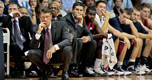 Penn coach Glen Miller could only watch as Villanova raced out to a big early lead and never looked back.