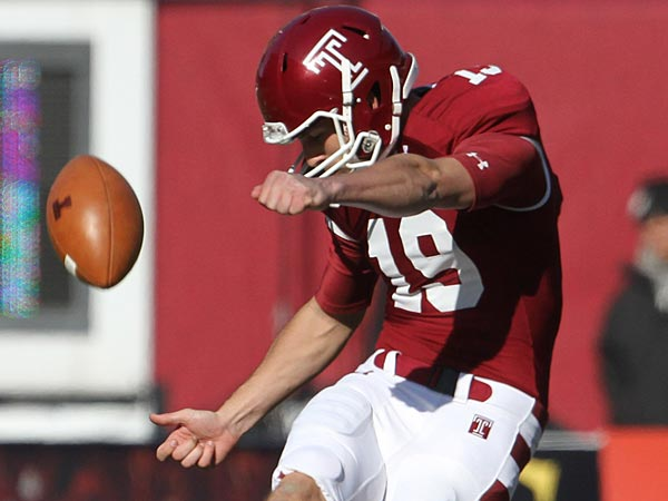 Like teammate Montel Harris, Temple seniors Brandon McManus and Martin Wallace will play in college all-star games. (David Swanson/Staff file photo)