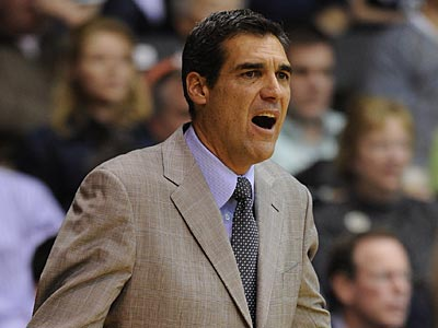 Jay Wright and Villanova take on Boston University tonight at the Pavilion. (AP Photo/Barbara Johnston)