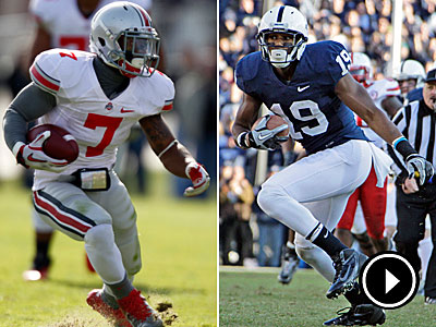 Ohio State hosts Penn State on Sunday afternoon. (AP Photos)