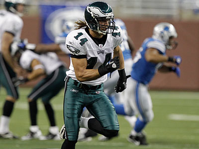 Eagles WR Riley Cooper may have to fill in for Jeremy Maclin Sunday night. (AP Photo/Paul Sancya)