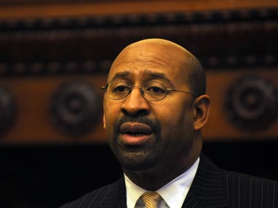 Mayor Nutter will give his annual budget address tomorrow morning. (File photo)