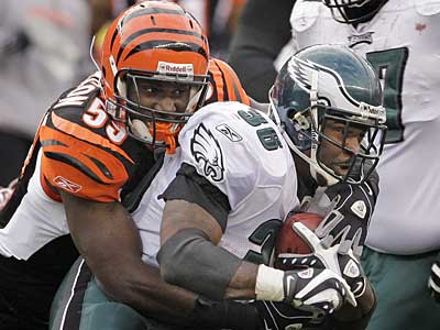 Eagles running back Brian Westbrook carried 14 times for 60 yards last week against the Bengals. (Ron Cortes / Staff Photographer)