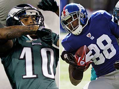 The Eagles square off against the rival New York Giants at the New Meadowlands Stadium on Sunday. (AP Photos)