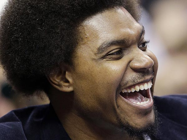 Andrew Bynum displayed some Flamenco dance moves over in Spain. (Matt Slocum/AP file photo)