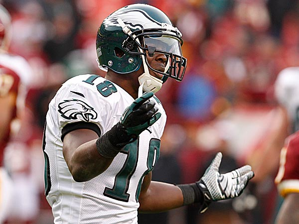 Eagles wide receiver Jeremy Maclin shows his frustration during the loss to the Redskins. (Ron Cortes/Staff Photographer)