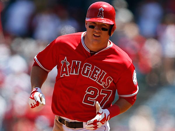 Angels outfielder Mike Trout. (Danny Moloshok/AP)