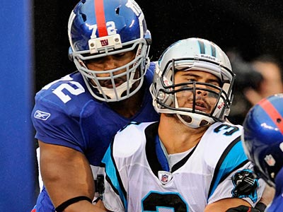 The Giants defense has knocked 5 quarterbacks of the game this season. (AP Photo/Henny Ray Abrams, File)