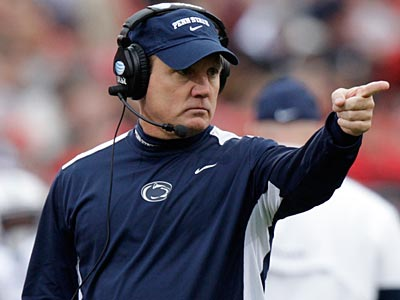 Penn State interim head coach Tom Bradley picked up his first win with a 20-14 victory over Ohio state. (AP)