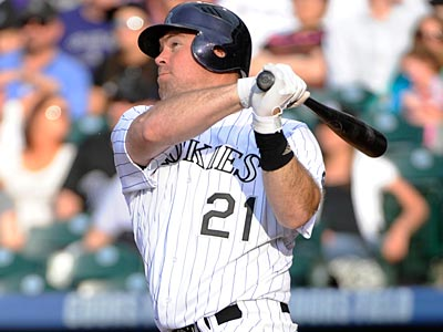 The Phillies acquired utility man Ty Wigginton on Sunday for a player to be named later or cash. (Jack Dempsey/AP)