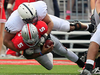 Penn State defensive end Jack Crawford had one of his best games of the season Saturday in the Nittany Lions´ 20-14 win over Ohio State. (AP Photo/Al Behrman)