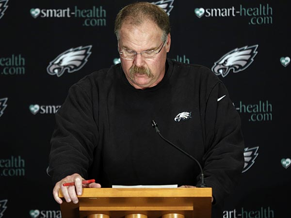 Andy Reid won't abandon the sinking Eagles