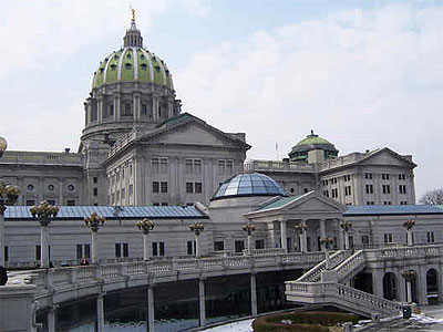 Pennsylvania´s capitol building in Harrisburg.