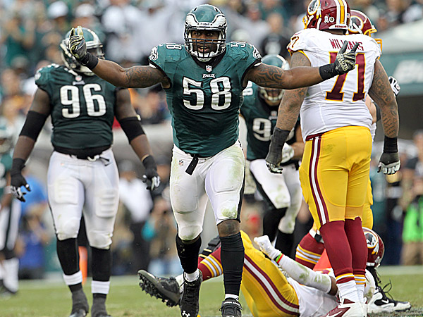 The Eagles´ Trent Cole. (Yong Kim/Staff Photographer)