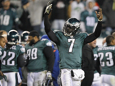 Michael Vick and the Eagles sit atop the NFC East. (David Maialetti / Staff file photo)