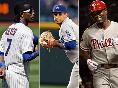 David Murphy looks into the Phillies´ free-agent options at shortstop, including Jose Reyes, Rafael Furcal, and Jimmy Rollins. (AP Photos)