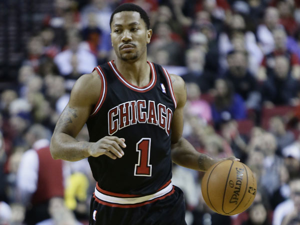 Bulls guard Derrick Rose. (Don Ryan/AP)