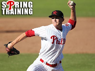 Phillies prospect Jake Diekman delivers a pitch during an Arizona Fall League game. (AP file photo)