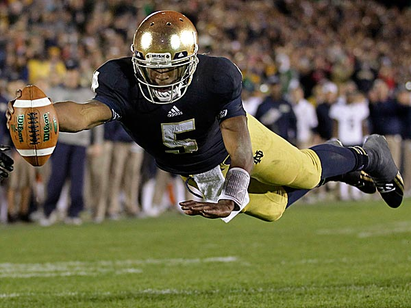 Notre Dame can punch its ticket to the BCS championship game with a win Saturday night at Southern California. (Michael Conroy/AP)