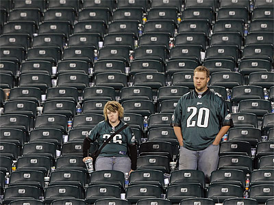 Thousands of Eagles fans are trying to sell their tickets for Thursday night´s game against Arizona. (Jerry Lodriguss/Staff file photo)