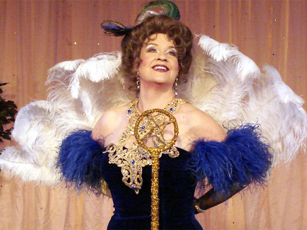 "Kathy Halenda plays the title character in ""Sophie Tucker: The Last of the Red Hot Mamas"" at the Walnut Street Theatre."