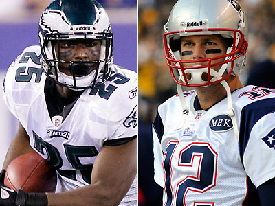 LeSean McCoy and Tom Brady, two of the best at their respective positions, will square off Sunday at the Linc. (AP Photos)