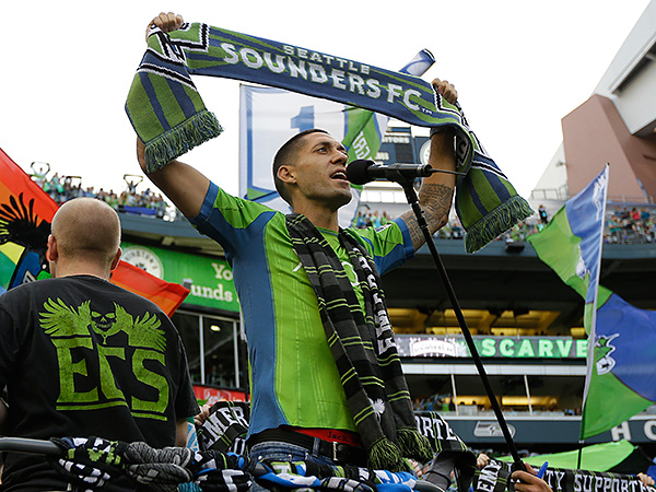 Clint Dempsey and the Seattle Sounders will feature prominently in Major League Soccer´s national television broadcast schedule in 2014. (Ted S. Warren/AP file photo)