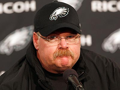 "Andy Reid said he did not hear the fans chanting ""Fire Andy"" at the Eagles-Patriots game. (Yong Kim/Staff Photographer)"