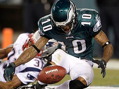 DeSean Jackson had three drops against the Patriots. (Yong Kim/Staff Photographer)