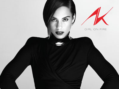 "The cover of Alicia Keys´ new album, ""Girl on Fire."""