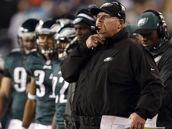 Andy Reid and the Eagles fell to 3-8 with a 30-22 loss to the Panthers on Monday night. (David Maialetti/Staff Photographer)